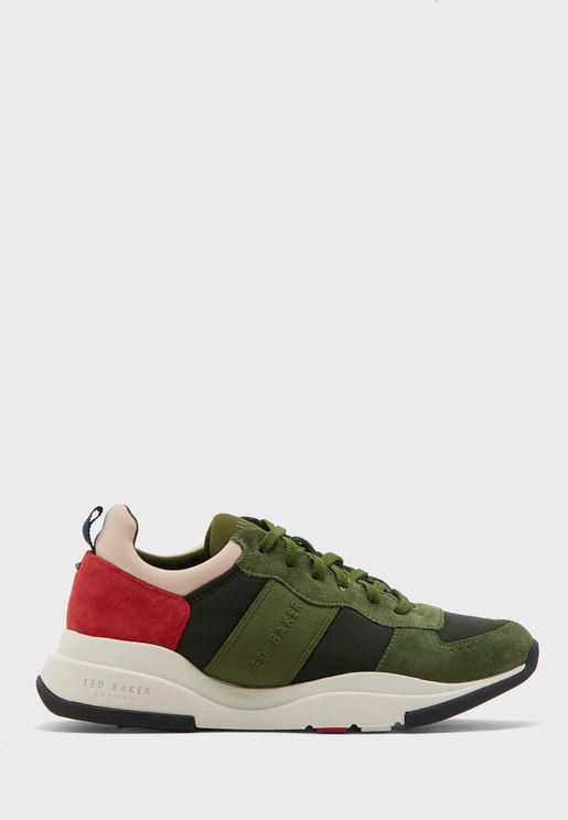 Weverdi Layered Sole Sneaker - Khaki