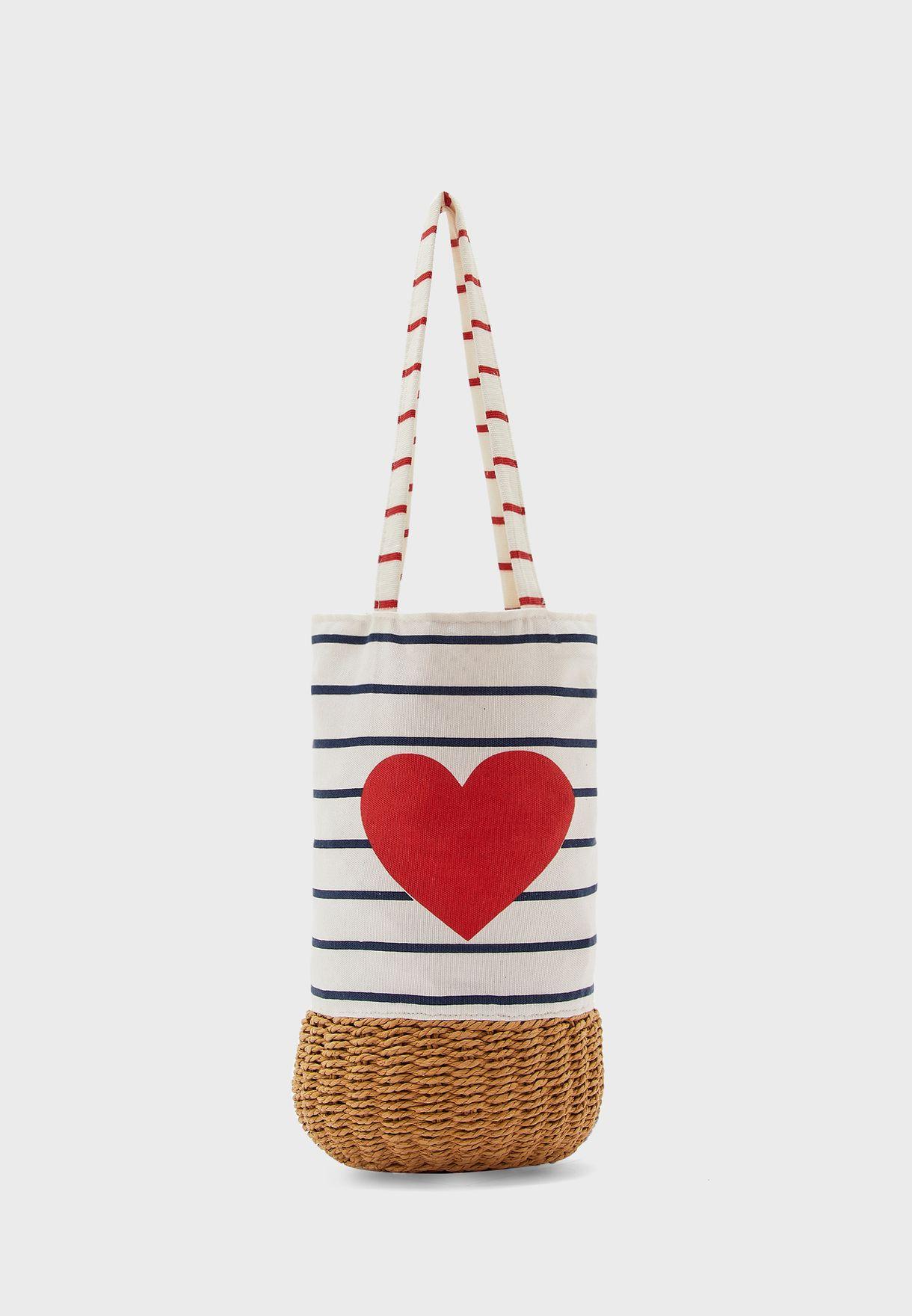 Kids Heart Print Handbag