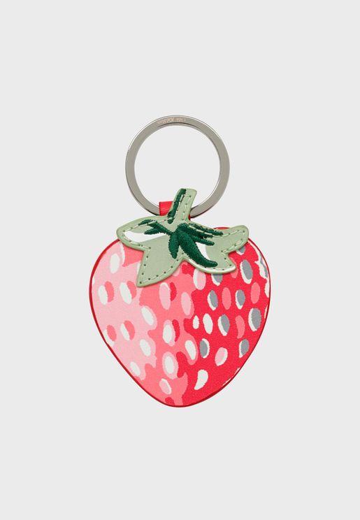 Strawberry Charm Keyring