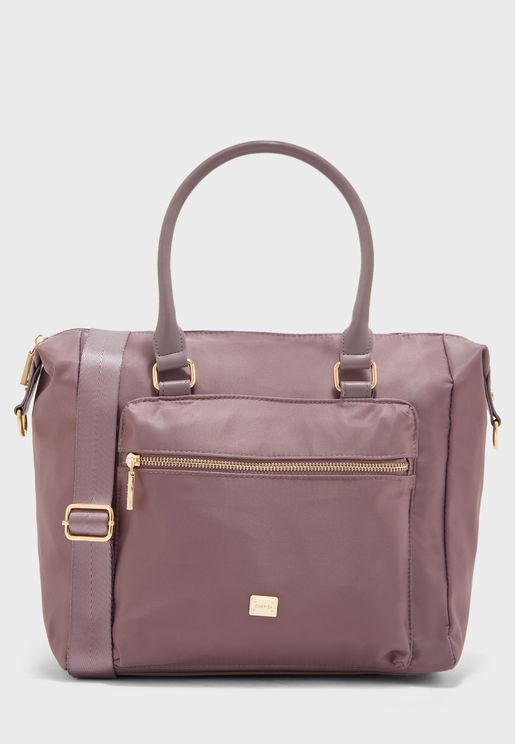 Lunda Front Pocket Shopper Bag