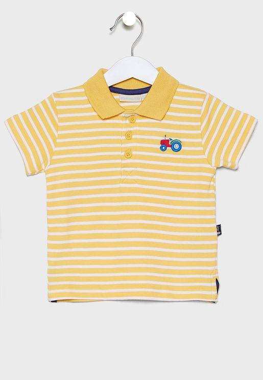 Kids Striped Polo