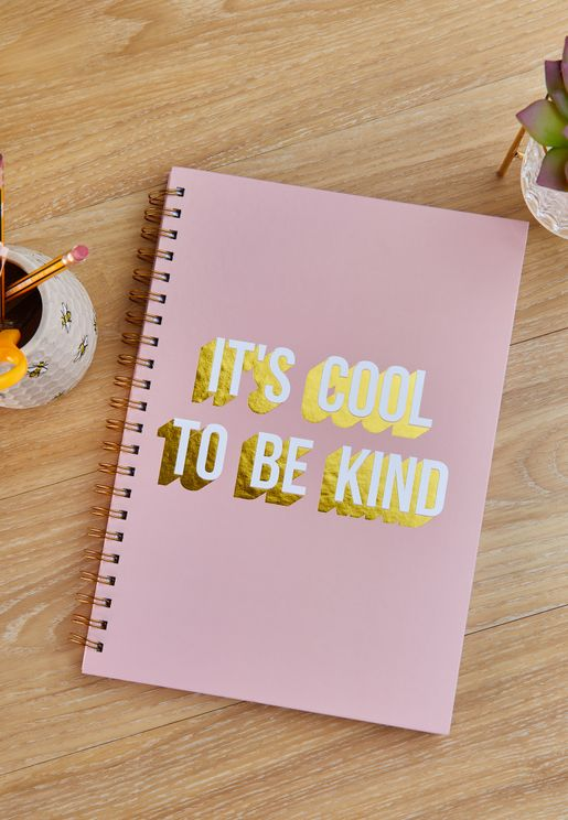 A4 It'S Cool To Be Kind Notebook