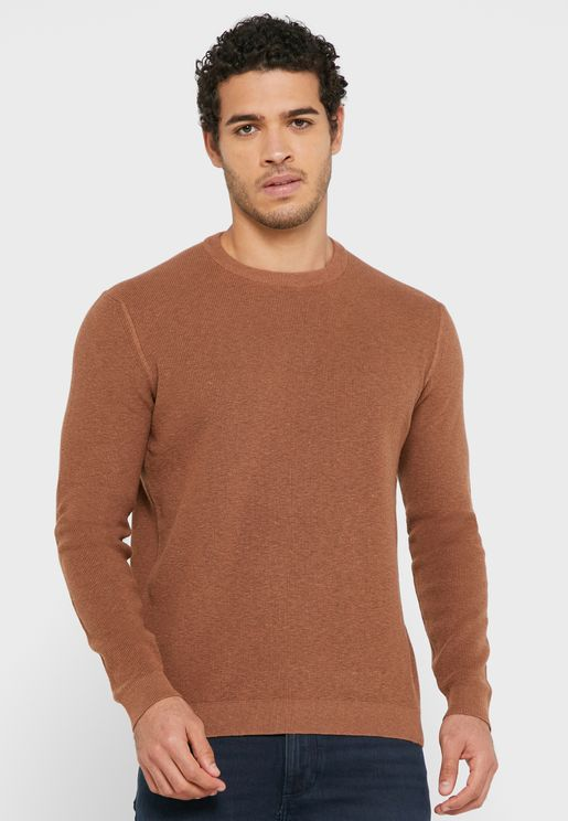 Knitted Crew Neck T-Shirt