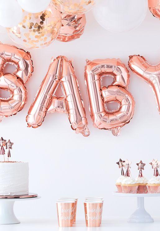 زينة بالونات لحفلات المولود الجديد