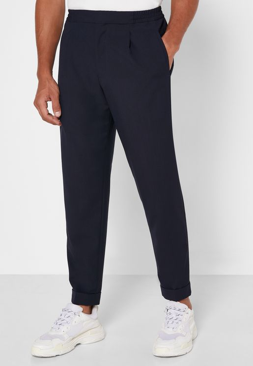 Pleated Relaxed Trousers