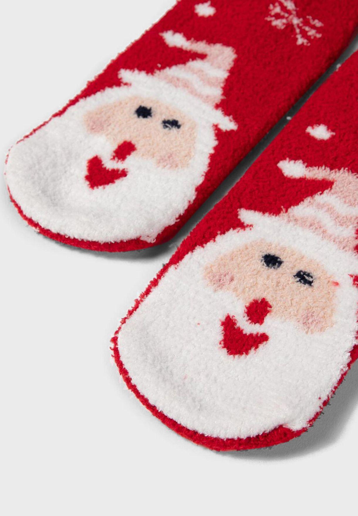 Kids 2 Pack Christmas Crew Socks