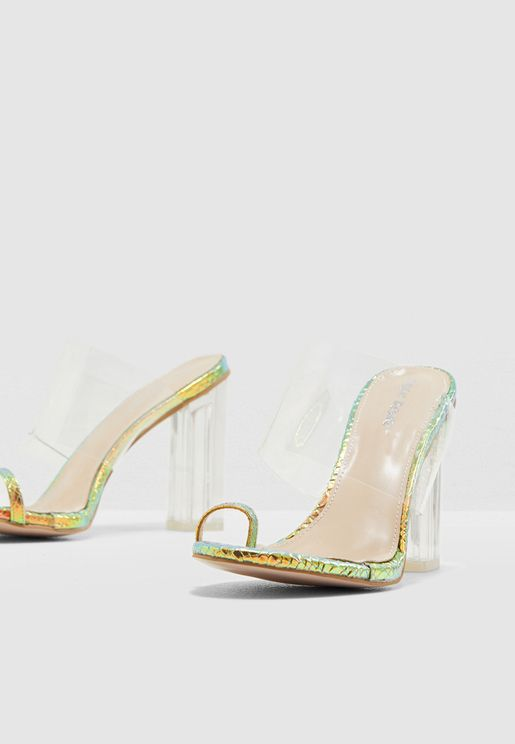 Exposed Perspex Sandal