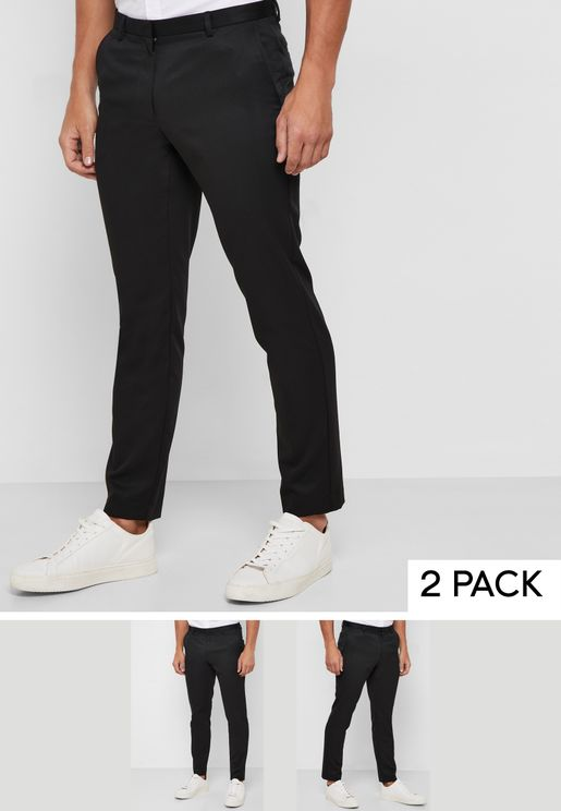 2 Pack Skinny Fit Trousers