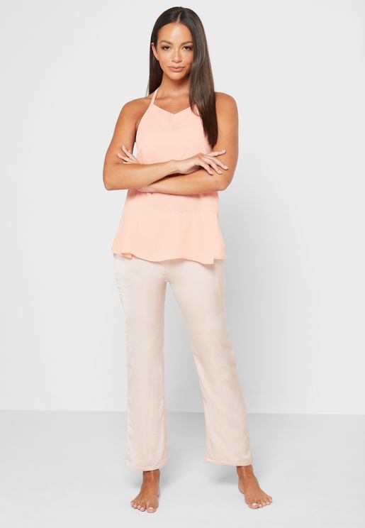 Inner Support Cami Top & Pyjama Set