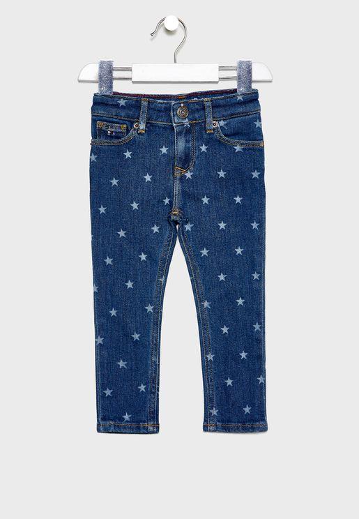 بنطال جينز مطبع للاطفال