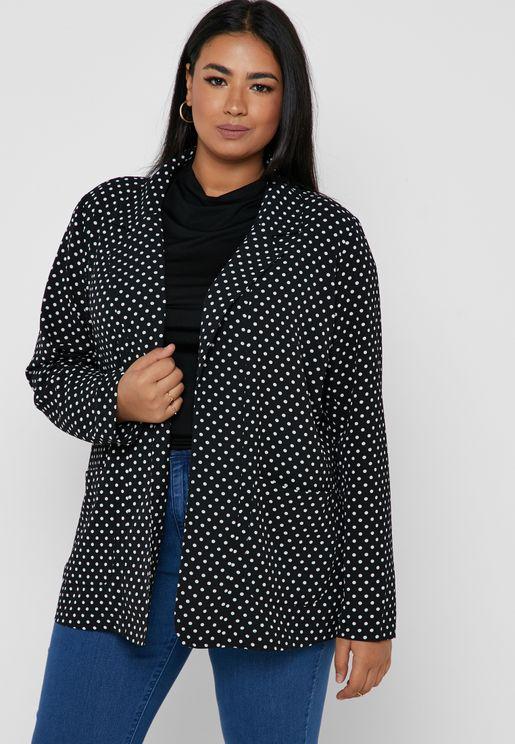 Polka Dot Printed Blazer