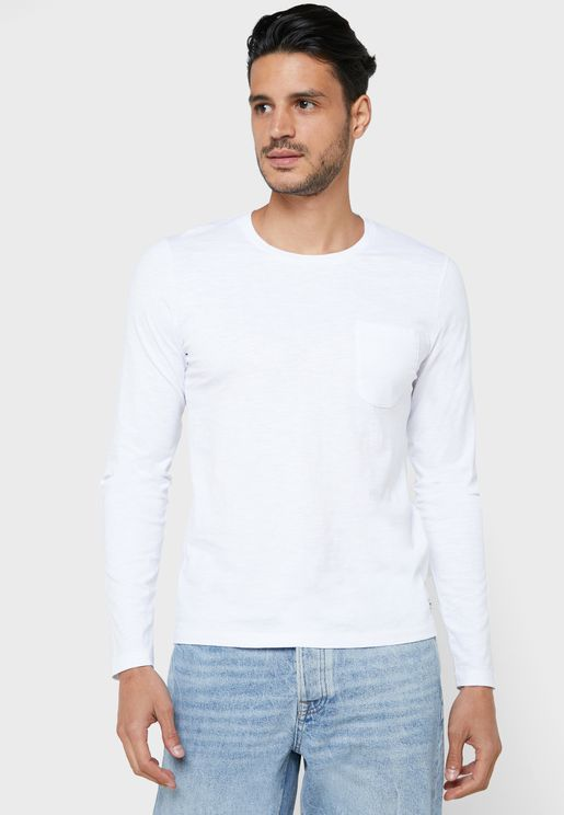 Essential Pocketed Crew Neck T-Shirt