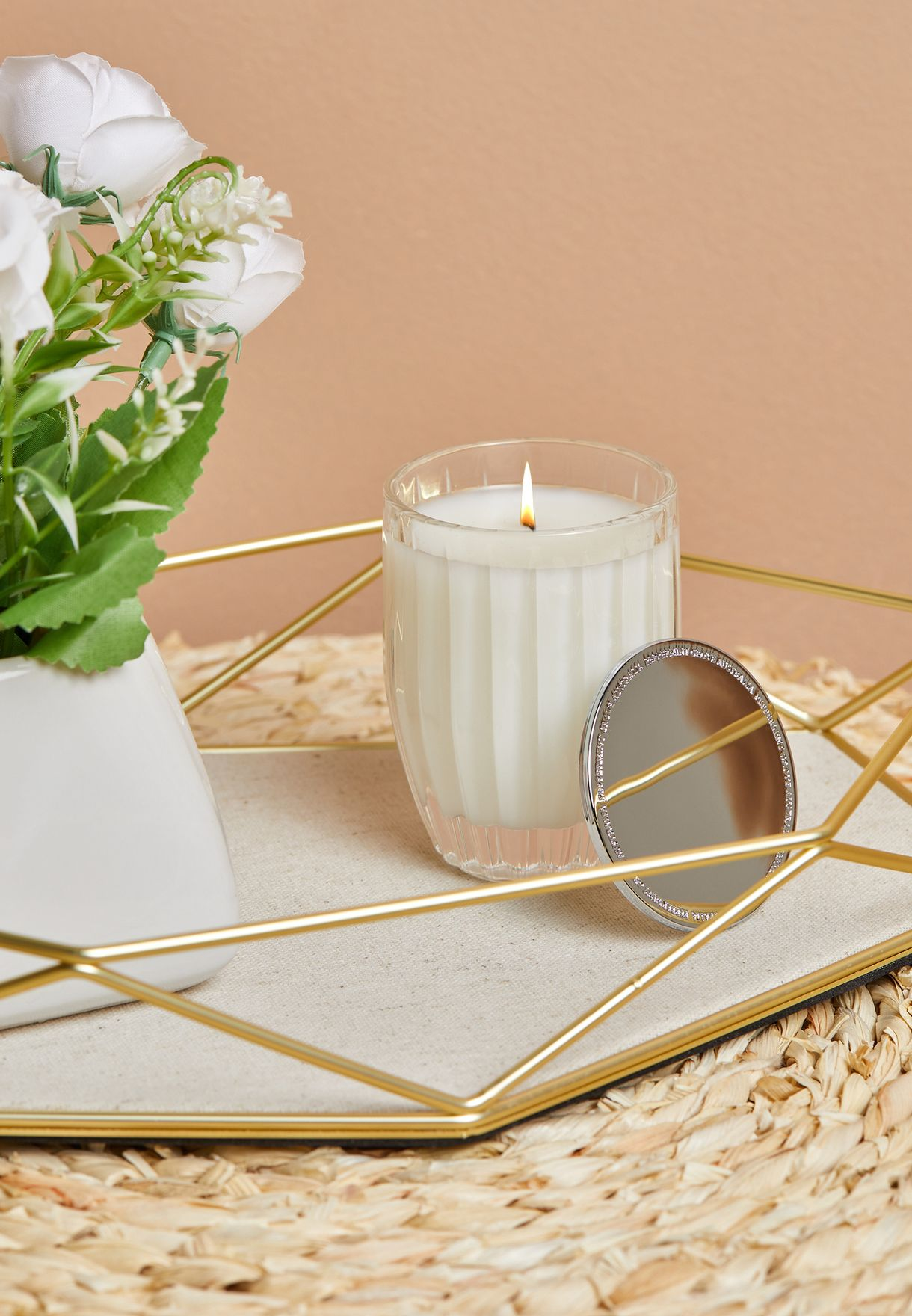 Lily & Lotus Flower Candle 60g
