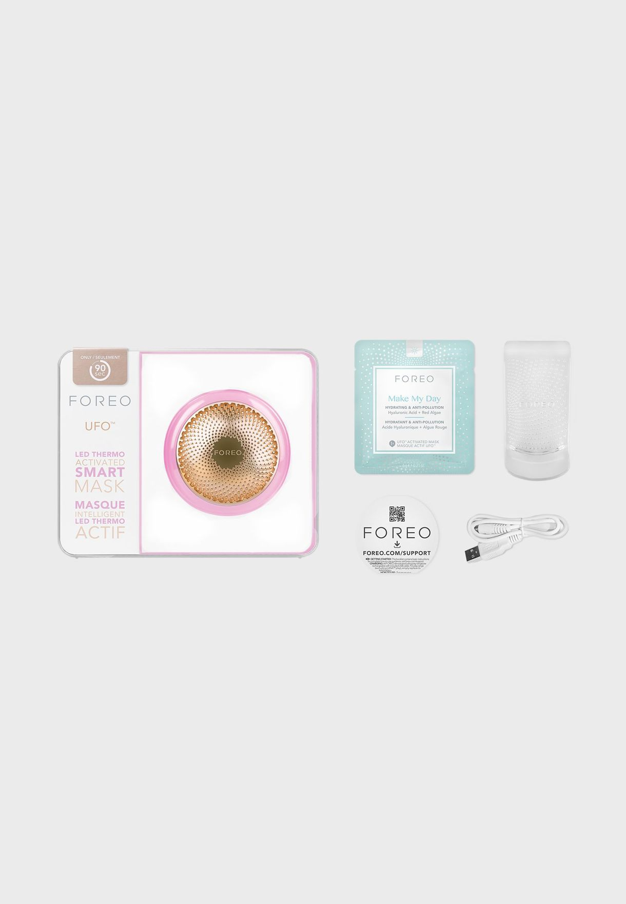 UFO Smart Mask Treatment Device - Pearl Pink