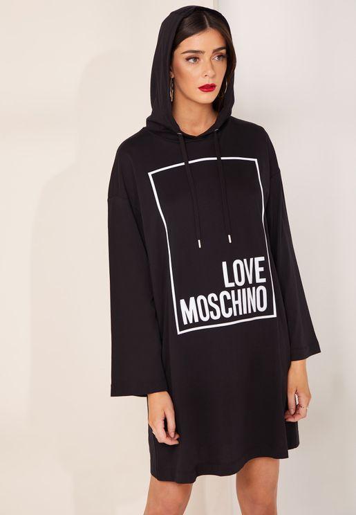 فستان قصير بنمط هودي