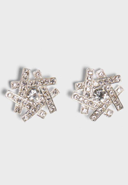 Diamante Cluster Earrings
