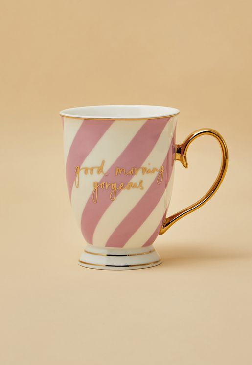 Good Morning Gorgeous Striped Mug