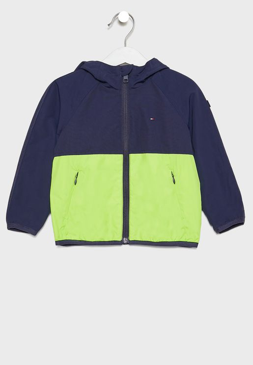 Kids Color Block Windbreaker