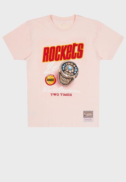 Houston Rockets Pastel Rings T-Shirt