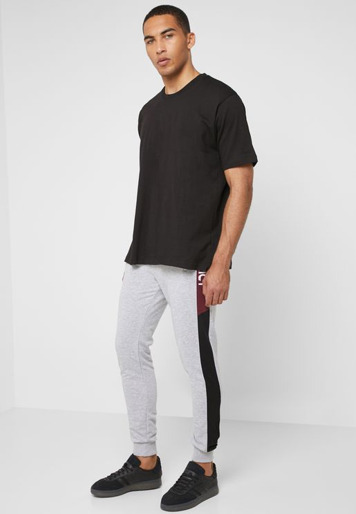Side Stripe Cuffed Joggers