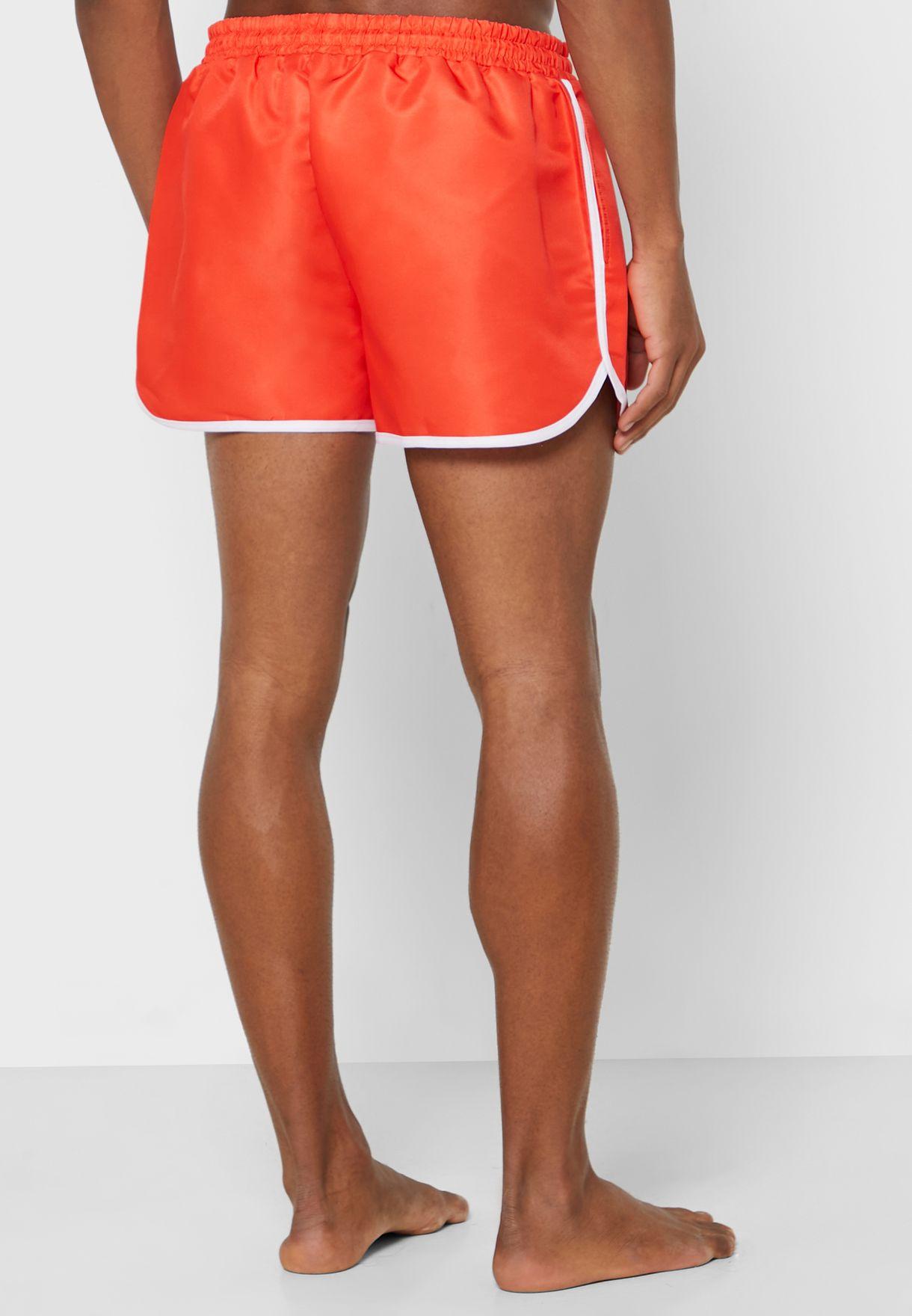 Contrast Piping Swim Shorts