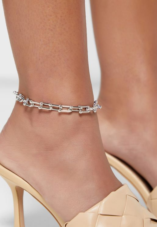 Rectangle Chain Link Anklet