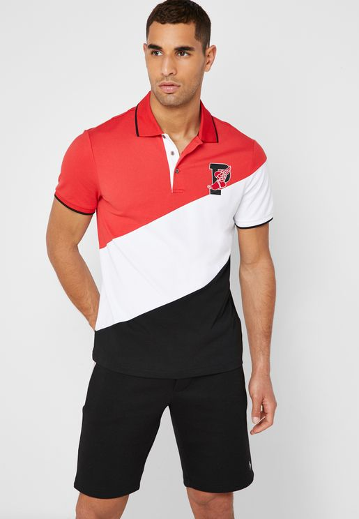 P-Wing Stretch Mesh Polo Shirt
