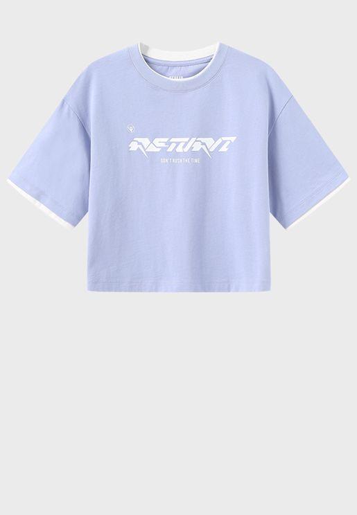 Oversized Slogan T-Shirt