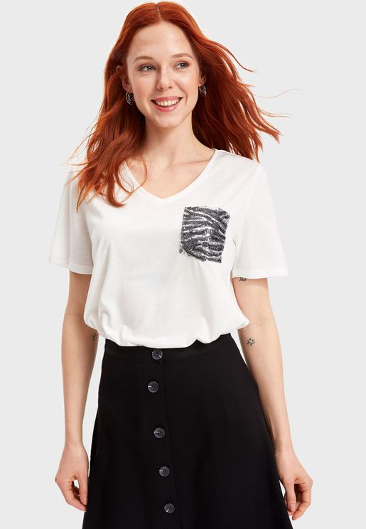 Pocket Detail T-Shirt