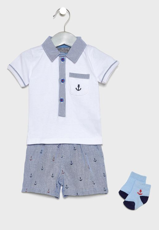 Infant Shorts Set + Socks