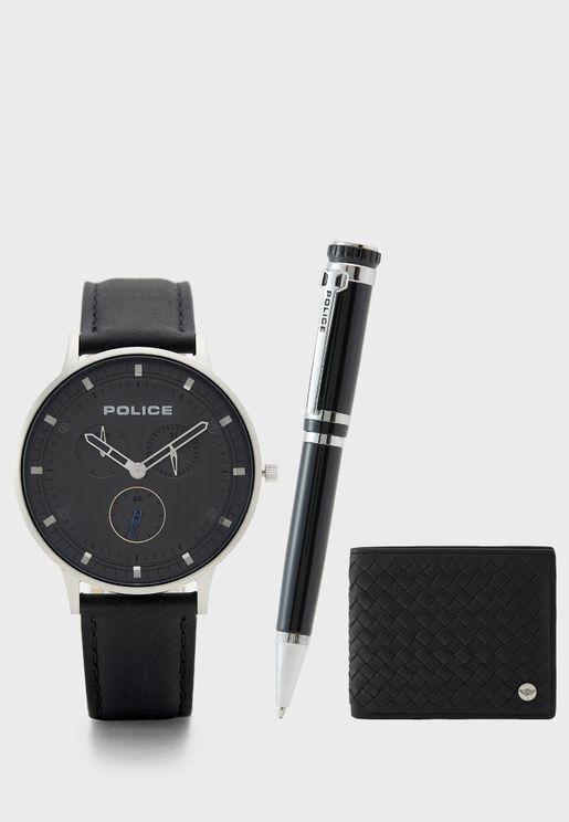 طقم ( ساعة + محفظة + قلم)
