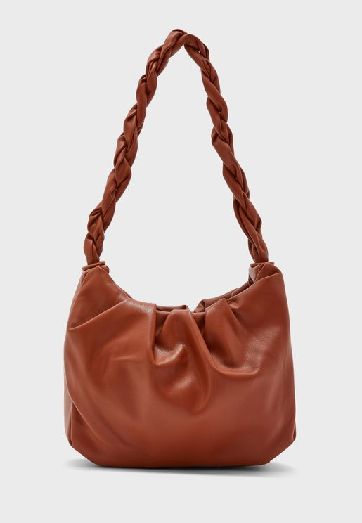 Twisted Handle Slouch Handbag