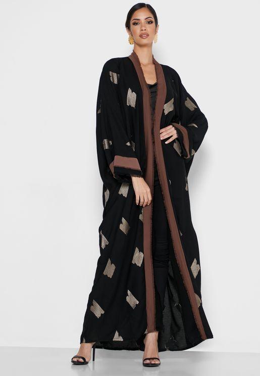 Layered Fringe Abaya