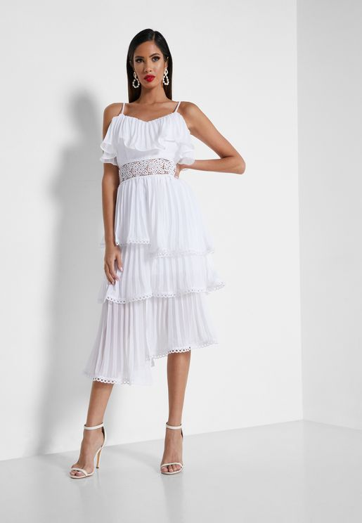 Pleated Layered Dress