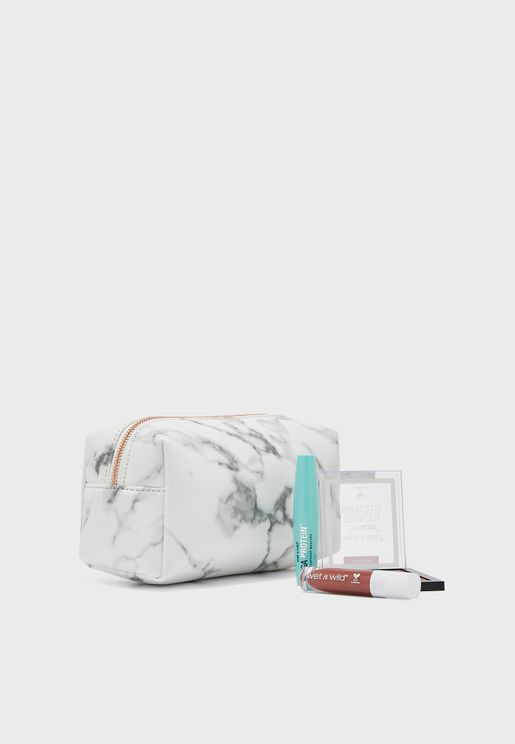 Marble Cosmetic Bag