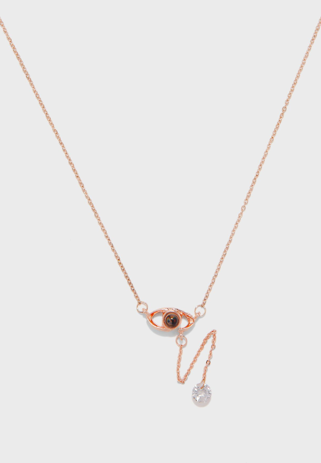 Eye Drop Detail Fine Necklace