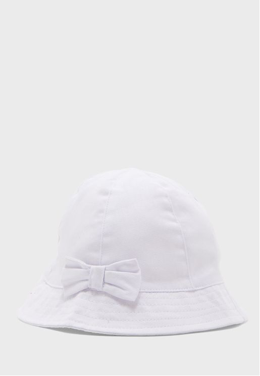 Infant Bow Detail Bucket Hat