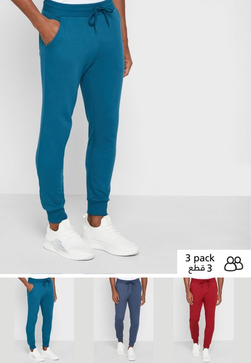 3 Pack Essential Joggers