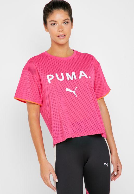 big sale f9c8e 52ce8 Chase Mesh T-Shirt. Puma