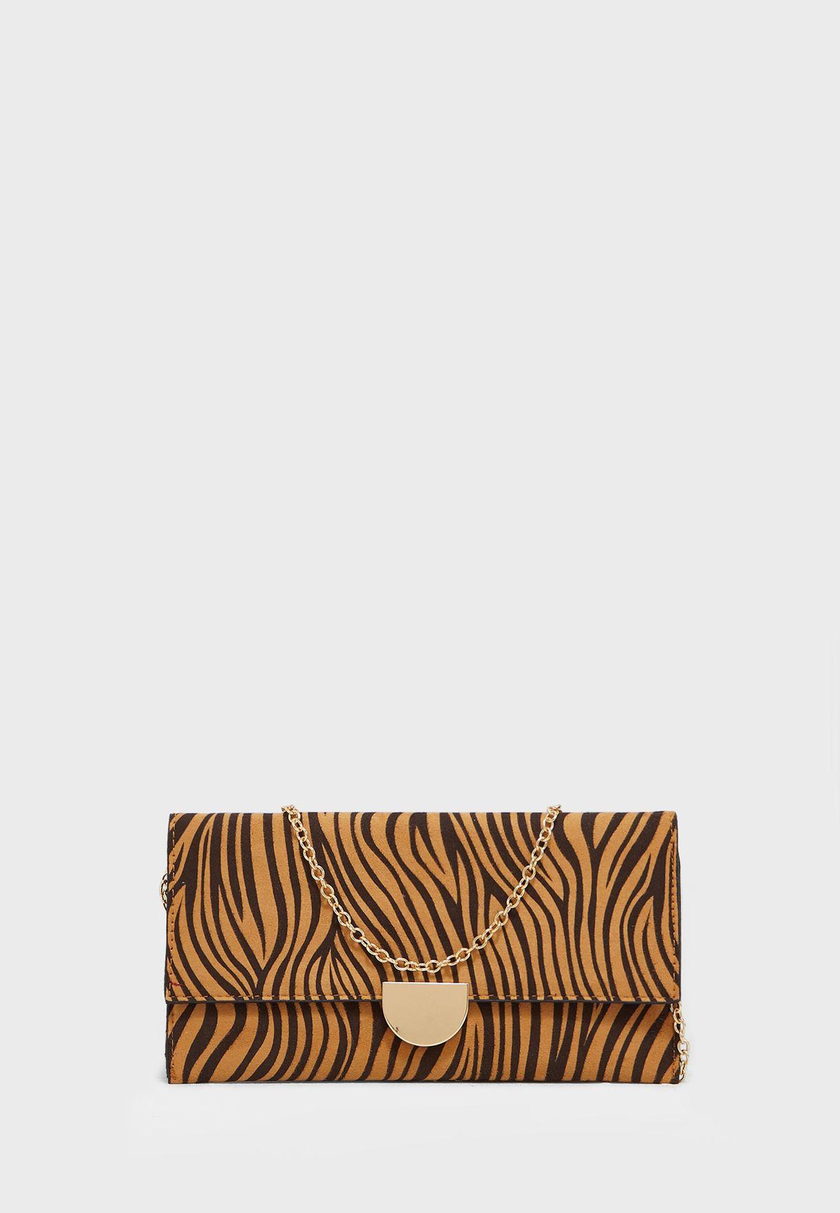 Tiger Print Mariella Clutch