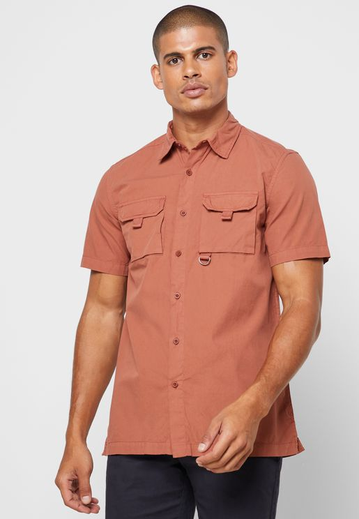 Short Sleeve Cargo Pocket Shirt