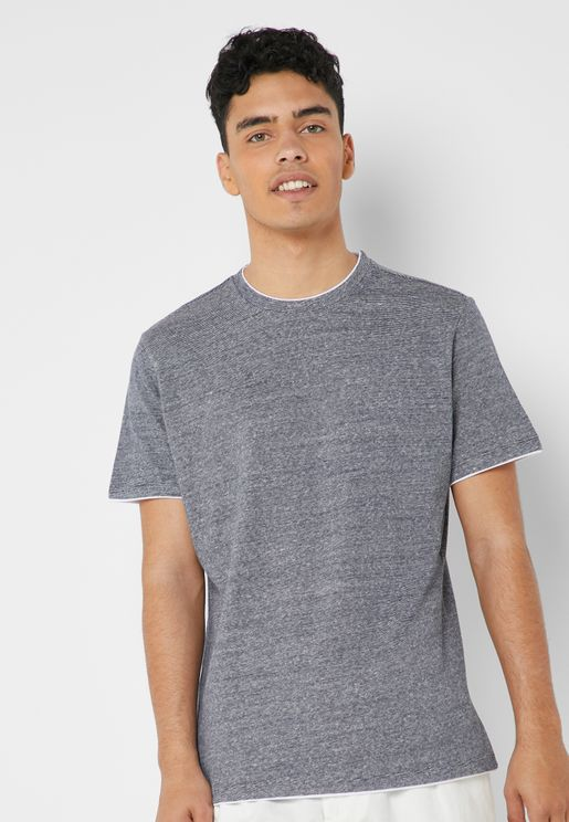 Striped Linen Blend T-Shirt