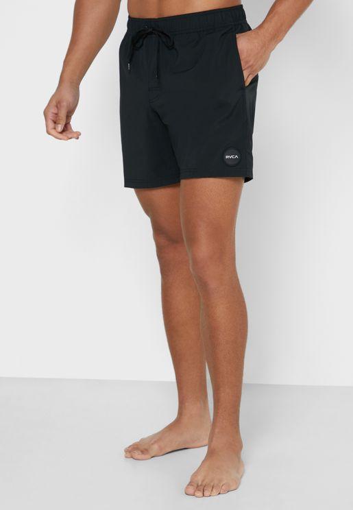 Elastic Trunks Swim Shorts