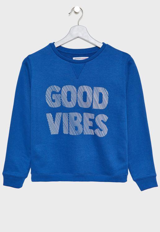 Teen Good Vibes Sweatshirt