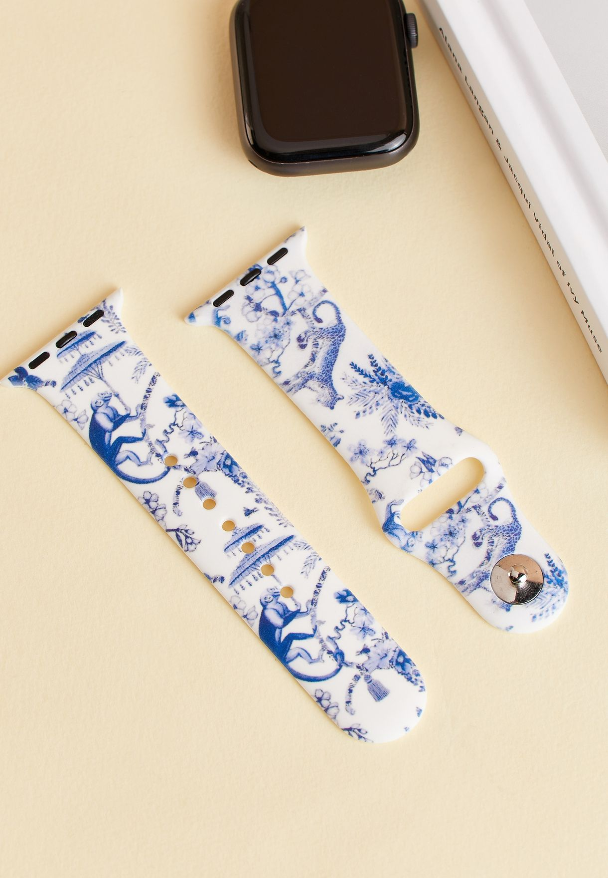 Toile De Jouy Print Apple Watch Strap 38/40Mm
