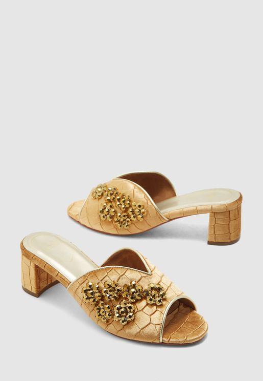 Ginare Block Heel Sandal