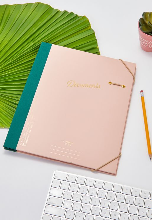 Pink Expandable Document Holder