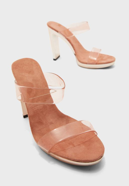 Double Strap Block Heel Sandal