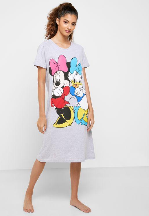 قميص نوم بطبعة ميني ماوس