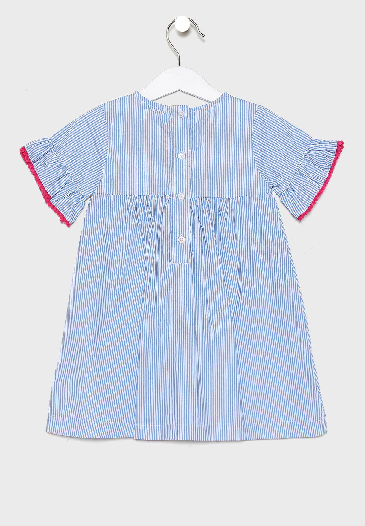 Infant Striped Dress+Knicker Set